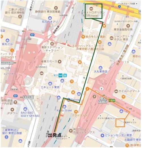 駅直結ホテルと距離